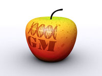 Genetically modified apple,computer artwork