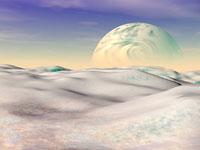 View from an alien moon,computer artwork