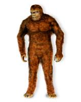 Mythical large ape, computer artwork