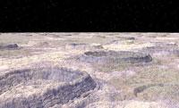 カリストの表面、木星の衛星