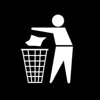 ゴミ捨て禁止の掲示