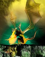 羽のある龍 01809016323| 写真素材・ストックフォト・画像・イラスト素材|アマナイメージズ