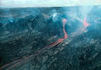 マウナロアの溶岩流