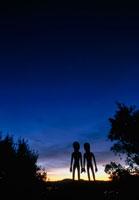 星を見るロズウェルのエイリアン