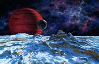 褐色矮星を旋回する太陽系以外の月 01809018341| 写真素材・ストックフォト・画像・イラスト素材|アマナイメージズ