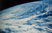 Storm clouds photographed from space shuttle