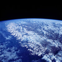 Himalaya mountain range, shuttle image