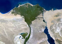 Nile Delta, satellite image