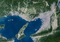 Osaka, satellite image
