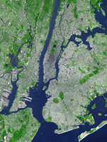 New York City, USA, satellite image