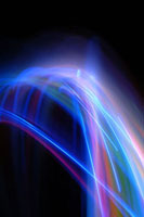 Moving lights, abstract image