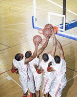 Basketball player scoring