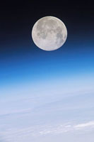 Full Moon above Earth,from the ISS