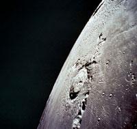 Apollo 17 photo of Eratosthenes crater on Moon