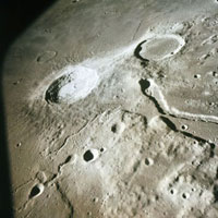 Apollo 15 photo of Schroters valley on the Moon