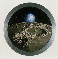 Earth over Moon 01809023206| 写真素材・ストックフォト・画像・イラスト素材|アマナイメージズ