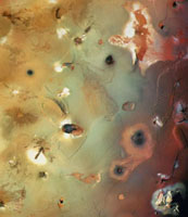 Voyager image of south polar region of Io