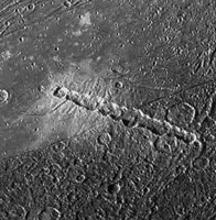 Craters on Ganymede