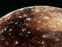 Voyager 1 photo of Callisto,Jupiter's fourth moon