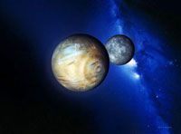 Pluto and Charon 01809023368| 写真素材・ストックフォト・画像・イラスト素材|アマナイメージズ