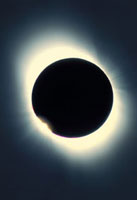 Total solar eclipse from Aruba,26/02/1998