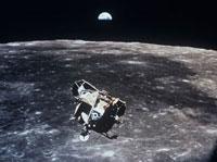 Apollo 11 photo of Lunar Module ascent stage