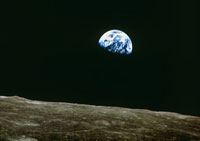 Earthrise over Moon,Apollo 8