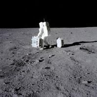 Buzz Aldrin on the Moon�CApollo 11�C1969