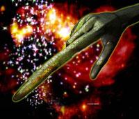Alien hand 01809023678| 写真素材・ストックフォト・画像・イラスト素材|アマナイメージズ