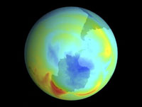 Antarctic ozone hole,September 1979