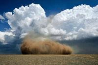 Collapsing landspout tornado