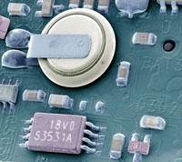 Circuit board battery,SEM