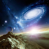 Colliding galaxies�Cartwork