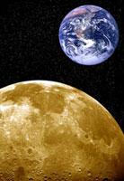 Moon and Earth,artwork