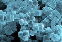 Fluorite crystals,SEM