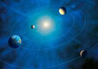 Inner solar system planets,artwork 01809025588  写真素材・ストックフォト・画像・イラスト素材 アマナイメージズ