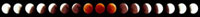Total lunar eclipse,montage image 01809025619  写真素材・ストックフォト・画像・イラスト素材 アマナイメージズ