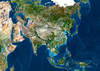 Asia,satellite image
