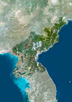 North Korea,satellite image