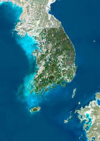 South Korea,satellite image