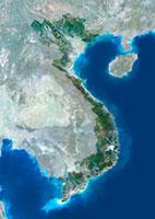 Vietnam,satellite image