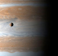 Io and Jupiter,Cassini image