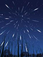 Perseids meteor shower,artwork 01809025715  写真素材・ストックフォト・画像・イラスト素材 アマナイメージズ