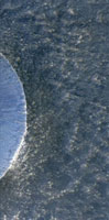 Martian crater,satellite image