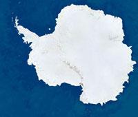Antarctica,satellite image