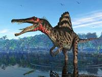 Spinosaurus dinosaur,artwork
