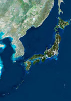 Japan,satellite image
