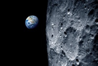 Earth from lunar orbit, artwork