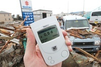 Measuring radiation, Japan 2011