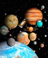 Kepler Mission and exoplanets, artwork
